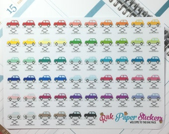 Car Repair (blank) stickers! - set of 56 stickers for your Erin Condren, Inkwell Press, Happy Planner or other calendar or planner!