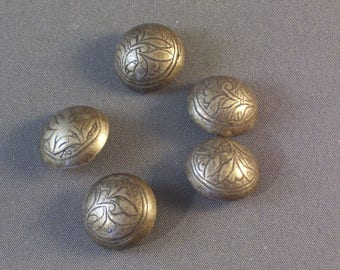 Antique Chinese Silver Buttons Qing Dynasty