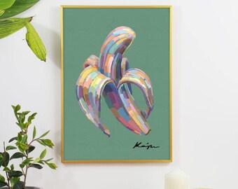 Banana Peel Digital Oil Graphic Print
