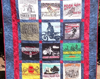 T-Shirt Memory Quilt custom made with your shirts