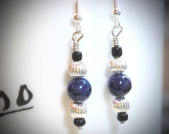 Genuine Lapis Lazuli earrings, Lapis Lazuli jewelry, Blue Lapis earrings, Blue Lapis Jewelry, Blue stone earrings, blue stone jewelry