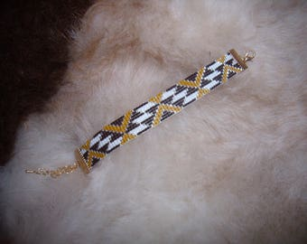 Bracelet Brown Ochre Yellow