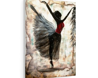 Shadow Dancer  Stretched Canvas
