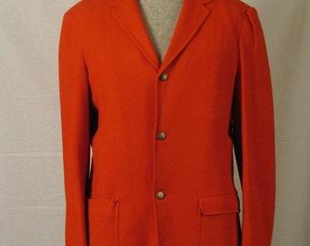 On Sale 1960's Burnt Orange Wool Sport Coat Jacket