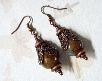 Brown and Copper Earrings (2356)