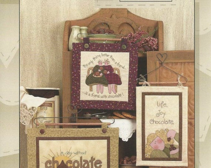 Oh! Chocolate Quilt Pattern #162P by Nancy Halvorsen and Art to Heart - 3 Different Chocolate Themed Quilt Patterns (w1421)
