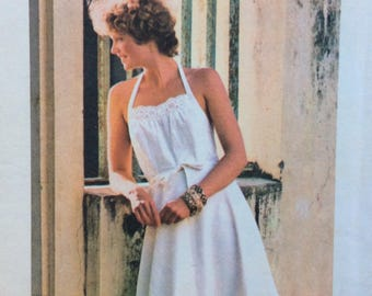 Butterick 4826 misses sundress size small size 8-10 bust 31 1/2 - 32 1/2 vintage 1970's sewing pattern