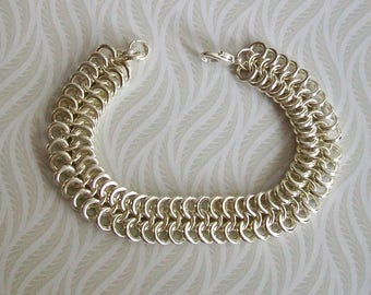 silver bracelet - chunky chain mens, womens, christmas birthday gift