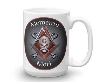 Memento Mori Masonic Skull and Bones Mug