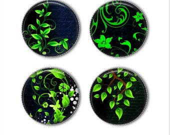 Plant magnets or plant pins, botanical magnets, botanical pins, vines, flowers, refrigerator magnets, fridge magnets, office magnets