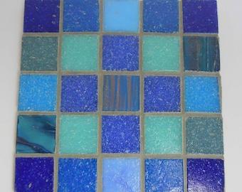 Mosaic Coasters, Handmade Coasters, Blue Coasters,  Blue Glass, Glass Tiles, Set of 4 Coasters, Drink coasters, Blue Home decor