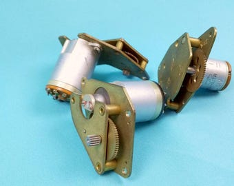 Aircraft High-speed Asynchronous Induction 2-phase Motors with Reducer for Aviation Automation Systems | Steampunk Industrial Accessory