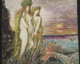 Printed Sew On Patch - THE SIRENS - Gustav Moreau 1826-1898