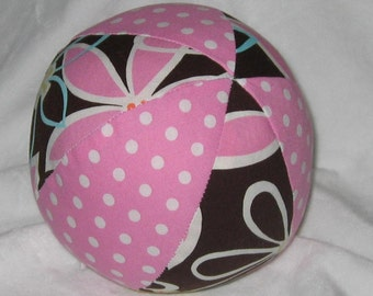 Michael Miller Daisy Dreams, Dumb Dot Fabric Ball Rattle Toy - SALE