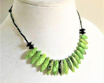 Green Spikes Gemstone Set