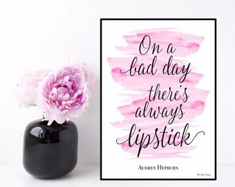Audrey Hepburn quote, Celebrity quote, Inspirational wall art, Poster quote Audrey Hepburn, Inspirational quote, Typography printable