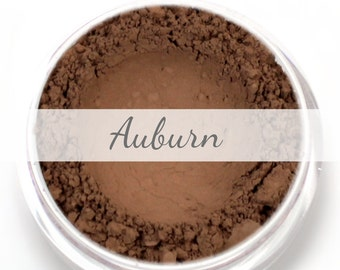 Auburn Eyebrow Powder  Sample - Vegan Mineral Eye Brow Powder Net Wt .4g Mineral Makeup Pigment