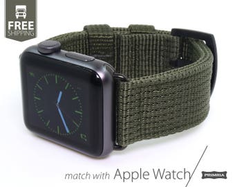 Apple Watch / Applewatch Series 1/2/3 - Nylon Nato Heavy Duty Watch Strap / Watch Band (Adapters Included)