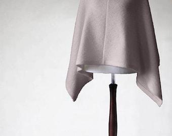 Light pink poncho, ecru sweater, boucle poncho, wool cape, wool sweater, womens poncho, womens cape, wedding poncho,wrap sweater,wool poncho