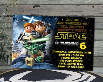 Lego star wars etsy star wars lego star wars lego invitation star wars lego birthday invitation star wars lego party filmwisefo Images