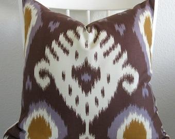 Dwell Studio Batavia Ikat Amethyst decorative pillow cover