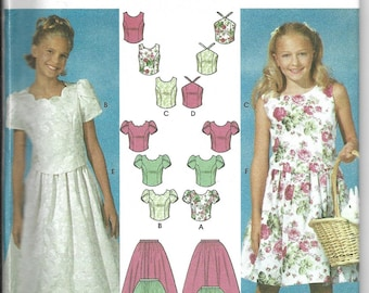 Simplicity | 7106 | Child's Skirt in Two Lengths and Tops | Uncut and Factory Folded