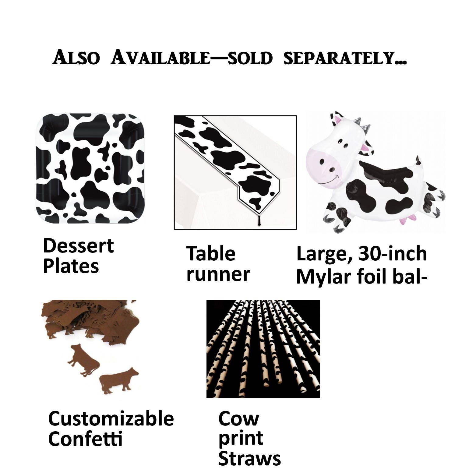 + $4.00 shipping  sc 1 st  Etsy Studio & cow napkins cow print 16 paper napkins 6.5 inches farm animals ...