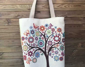Large burlap and tree bag