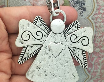 1 Silver Angel Charm Pendant SP1469