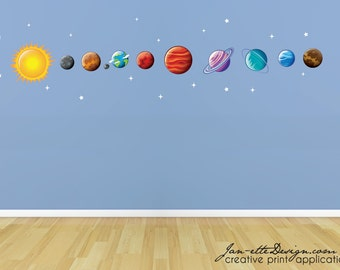 Space Wall Decals, Planet Wall Decals, Space Wall Stickers, Outerspace