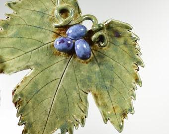 Pottery Leaf - Leaf Dish - Ceramic Leaf - Decorative Tray