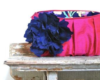 Fuchsia Bridesmaid Clutches. Navy Blue Wedding Clutch. Bridesmaid Gifts. Wedding Gifts. Summer Wedding Clutches. Bridal Clutch Purse. Eclu