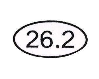 Marathon 26.2 Miles Patch Running Enthusiast Race Embroidered Iron On Applique