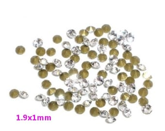 Tapered white rhinestone 1440 1.9x1mm - S16745 transparent.