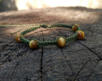 Cats Eye Green Bracelet
