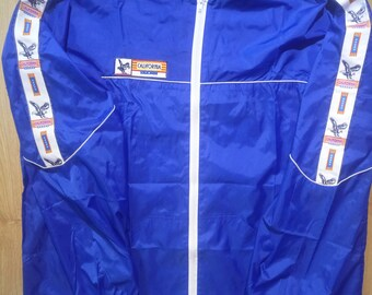 California USA 90's Vintage Mens Nylon Tracksuit Top Jacket Windbreaker