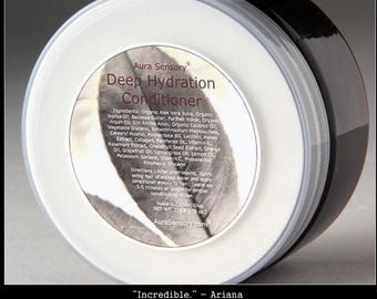 Deep Hydration Conditioner with Silk Proteins - Damaged Hair Treatment - Dry Hair Repair - Intensive Conditioning Treatment