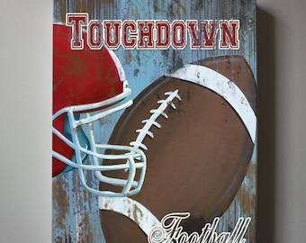 Football Canvas Art, Sports Nursery Canvas Art , Sports Nursery Decor,  Boys Room  Sports Art