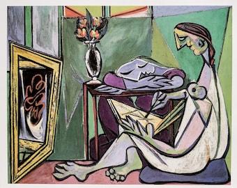 Picasso / The Muse / 1935 / Original Book Page Print / Published 1990 / Pop Art / Vintage