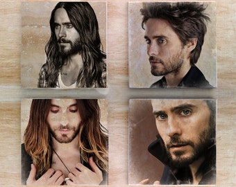 Stone Jared Leto Coaster set - 30 Seconds To Mars Actor Singer