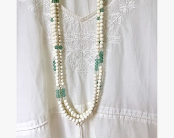 natural jewelry, recycled bead necklace, beachcomber eco friendly beach jewelry