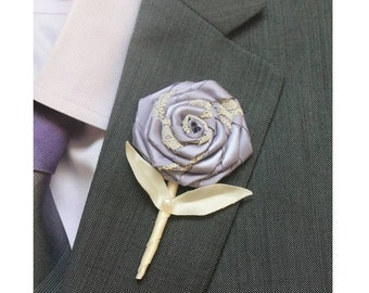 Lavender Wedding Boutonniere Grooms Boutonniere Groomsmen Boutonniere Mens Wedding Boutonniere Lavender Boutonniere Wedding   Boutonnieres