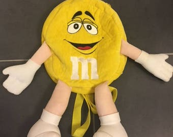 M&Ms chocolate Yellow backpack