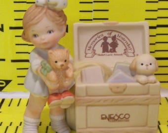 REDUCED! Memories of Yesterday. Mabel Lucie Attwell. Girl with Toy Chest. 1991. 527300.