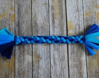 Durable Dog Toy - Fleece Rope Dog Toy - Blue  - Extra Large