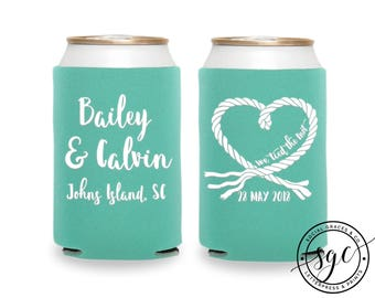 Foam Can Coolers | Personalized Can Coolies | Monogram Beer Sleeves | Can Insulator | Wedding Party Favors | Bridal Gifts | Drink Holder