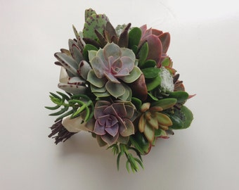 Whispered Whimsy Succulent Bridal Bouquet // Succulent Bouquet