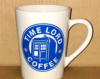 Coffee Cup Time Lord Coffee Tardis Doctor Who