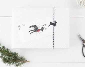 Holiday Gift Tags Printable, Christmas Wrapping Accessories, Printable Christmas Tags, Rustic Christmas Tags, Digital Christmas Tags