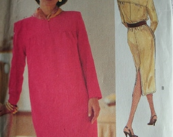 Misses Dress Size 8-10-12 The Vogue Woman Pattern 8589 Vintage 1993 Rated Very Easy to Sew